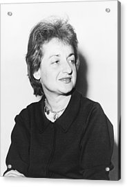 Feminist Betty Friedan Acrylic Print by Fred Palumbo