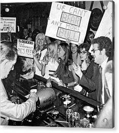 Feminists Protest  Brown's Bar Acrylic Print by Underwood Archives