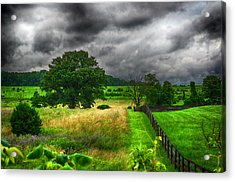 Fenced Out Acrylic Print by Ryan Crane