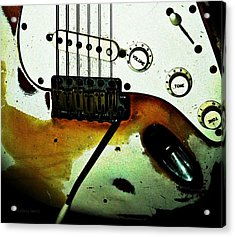 Fender Detail  Acrylic Print by Chris Berry