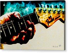 Fender Strat Acrylic Print by Bob Orsillo
