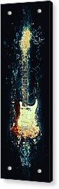 Fender Strat Acrylic Print by Taylan Soyturk