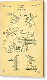 Fender Jazzmaster Guitar Patent Art 1960  Acrylic Print by Ian Monk
