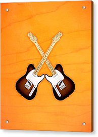 Fender Telecaster Sunburst Acrylic Print by Doron Mafdoos