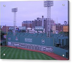 Fenway Left Field Acrylic Print by Brian Hoover