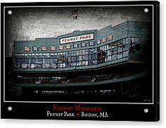 Fenway Memories - Poster 1 Acrylic Print by Stephen Stookey