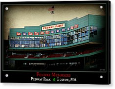 Fenway Memories - Poster 2 Acrylic Print by Stephen Stookey