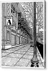 Fenway Park Acrylic Print by Conor Plunkett