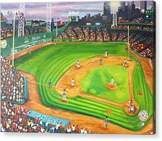 Fenway Park Fantasy Acrylic Print by Michell Givens