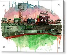 Fenway Park Acrylic Print by Michael  Pattison