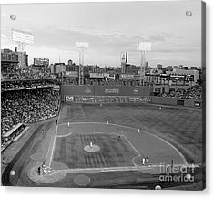 Fenway Park Photo - Black And White Acrylic Print by Horsch Gallery