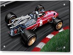 Ferrari 312 F-1 Car Acrylic Print by David Kyte