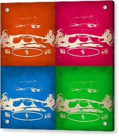 Ferrari Front Pop Art 4 Acrylic Print by Naxart Studio