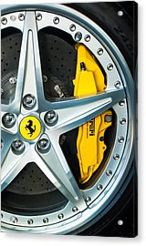 Ferrari Wheel 3 Acrylic Print by Jill Reger