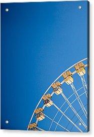 Ferris Wheel 1 Acrylic Print by Rebecca Cozart