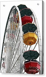 Ferris Wheel Colors Acrylic Print by John Rizzuto