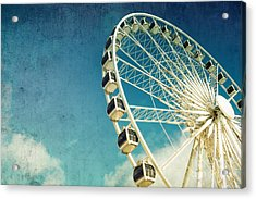 Ferris Wheel Retro Acrylic Print by Jane Rix