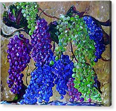 Festival Of Grapes Acrylic Print by Eloise Schneider