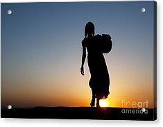 Fetching Water Acrylic Print by Tim Gainey