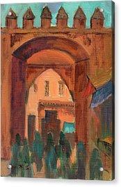 Fez Town Scene Acrylic Print by Diane McClary