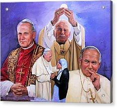 Saint John Paul II  Acrylic Print by Richard Barone