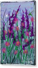 Field Flowers Acrylic Print by Judy Via-Wolff