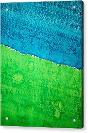 Field Of Dreams Original Painting Acrylic Print by Sol Luckman