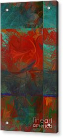 Fiery Whirlwind Onset Acrylic Print by CR Leyland