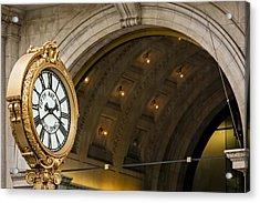 Fifth Avenue Building Clock Acrylic Print by Susan Candelario