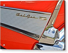 Fifty Seven Chevy Bel Air Acrylic Print by Frozen in Time Fine Art Photography