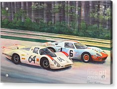 Fight For The Lead Acrylic Print by Robert Hooper