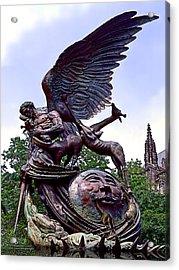 Fighting Angel Acrylic Print by Terry Reynoldson