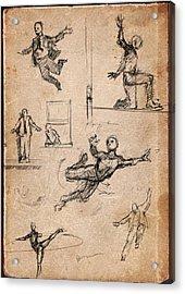 Figure Studies Acrylic Print by H James Hoff