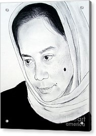 Filipina Beauty With A Facial Mole Acrylic Print by Jim Fitzpatrick