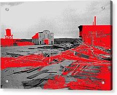 Film Homage High Plain Drifter 1973 Monte Walsh Set Windstorm Mescal Arizona 1969-2012 Acrylic Print by David Lee Guss