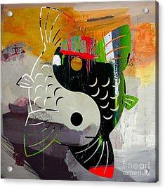 Finding Good Balance Yin Yang Koi Acrylic Print by Marvin Blaine