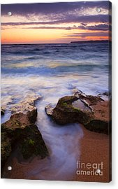 Finding The Cracks Acrylic Print by Mike  Dawson