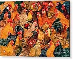 Fine Fowl Acrylic Print by Ditz