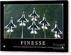Finesse Inspirational Quote Acrylic Print by Stocktrek Images