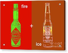 Fire And Ice 20130405 Acrylic Print by Wingsdomain Art and Photography