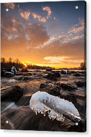 Fire And Ice Acrylic Print by Davorin Mance