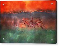Fire And Ice Misty Morning Acrylic Print by Betsy C Knapp