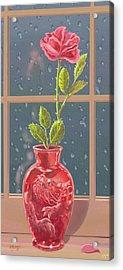 Fire And Rain Acrylic Print by J L Meadows