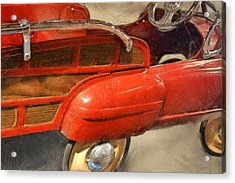 Fire Engine Pedal Car Acrylic Print by Michelle Calkins