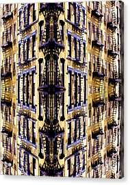 Fire Escapes - New York City Acrylic Print by Linda  Parker