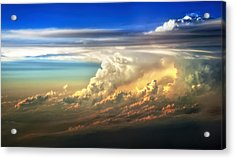 Fire In The Sky From 35000 Feet Acrylic Print by Scott Norris