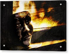 Fire Mask Acrylic Print by Scott Norris