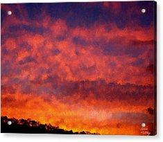 Fire On The Hillside Acrylic Print by Bruce Nutting