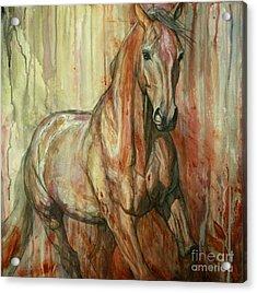 Fire Within Acrylic Print by Silvana Gabudean