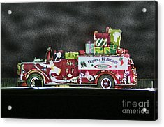 Firefighters Christmas Acrylic Print by Tommy Anderson